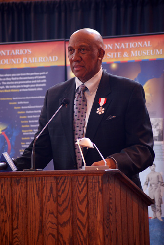 Fergie Jenkins speaking at the Chatham Armoury - Sports News Chatham-Kent - CKSN Photo Copyright Ian Kennedy