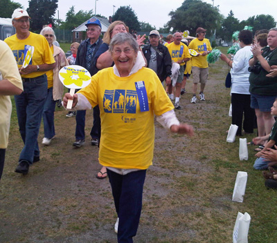 Cancer Survivor Katherine Kuchta at Relay for Life in Wallaceburg