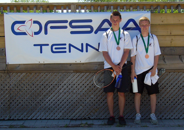 Michael Woods and Dylan McTavish - JMSS OFSAA Tennis