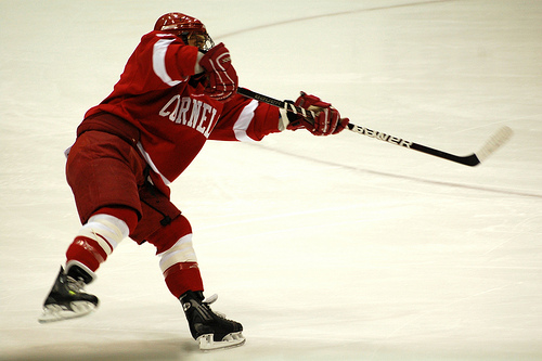 Tyler Roeszler with Cornell - Photo by Mark H Anbinder
