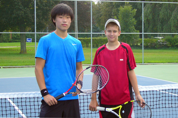 Boys Doubles Champions Rick An and Aiden Poole - Submitted Photo
