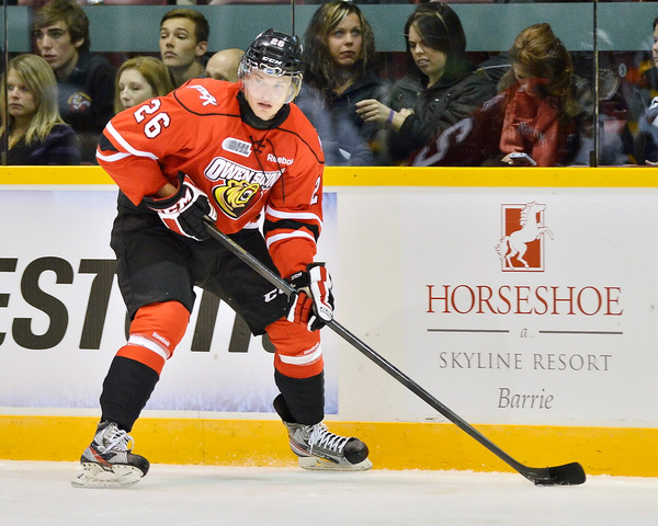 Kyle Hope of the Owen Sound Attack - Photo by Terry Wilson/OHL Images