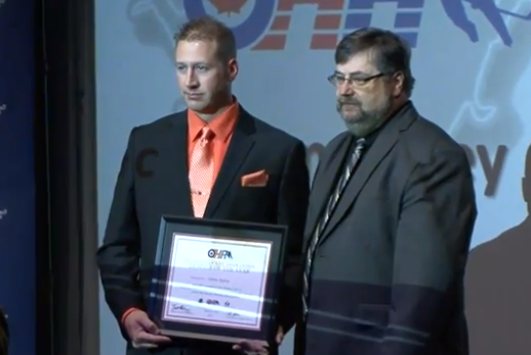 Adam Ripley - OHA Trainer of the Year