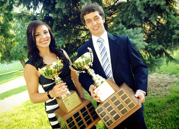 Alicia Baertsoen and Alex Kiar, 2013 Jack Parry winners