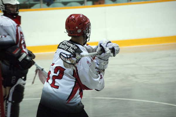 Joel Shepley playing for the Wallaceburg Red Devils