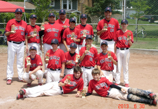 Chatham Diamonds Major Peewee baseball team