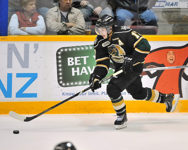 Seth Griffith of the London Knights - Photo by Terry Wilson/OHL Images