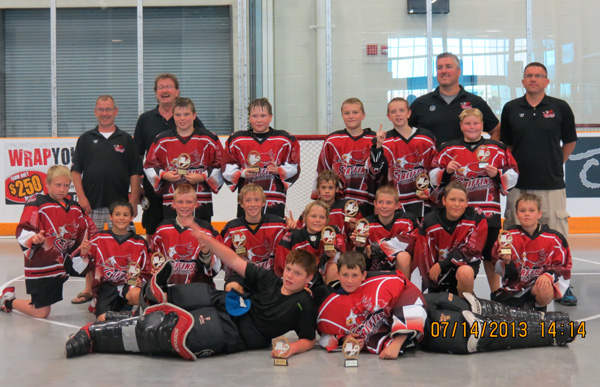 Wallaceburg Griffins Peewees win Barrie Tournament - Contributed Photo