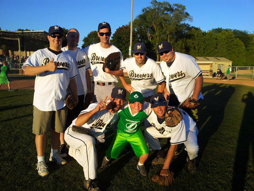 A Challenger Baseball player with the Maple City Brewers - Photo from Facebook