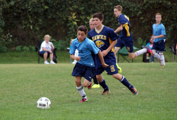 UCC Lancers vs. the CKSS Golden Hawks in boys Red Feather soccer - CKSN.ca Photo