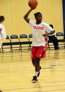 Anique Daley of the Fanshawe Falcons
