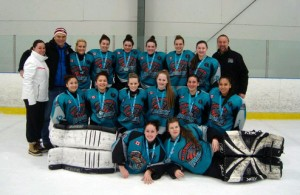 Katreena Whiteye and her Bluewater Hawks teammates at the Scarborough Tournament - Photo from Twitter