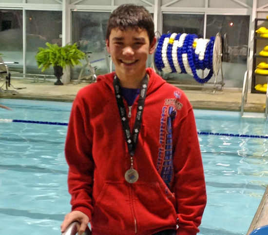 Brendan Van Herk Provincial Swimming silver 2014