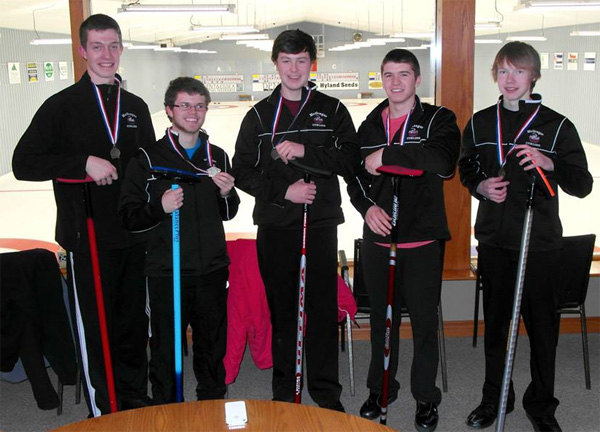 JMSS Panthers curling team after winning Kent - Contributed Photo