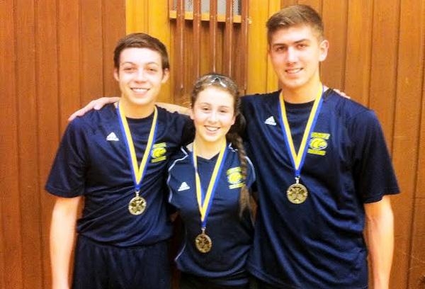 CKSS Badminton - Josh Roy, Eve Stokes, Pierce Johnson