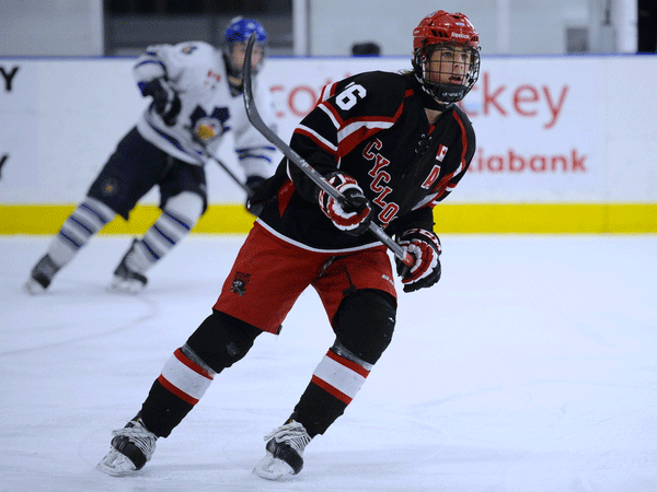 Brendan Harrogate of the Chatham-Kent Cyclones - Photo by Aaron Bell/OHL Images