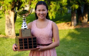 UCC's Michelle Truong with her 2014 Dr. Jack Parry Award trophy - Photo by Ian Kennedy/ CKSN.ca