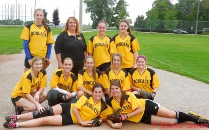 The Blenheim Bobcats Girls Softball Team Photo: Daniel Swan
