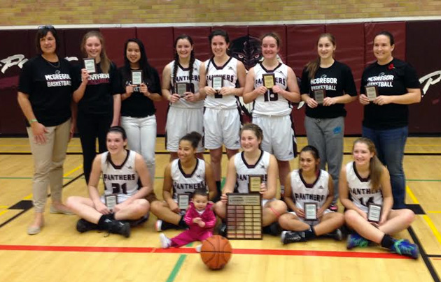 The JMSS Panthers senior girls basketball team captured the LKSSAA basketball title Saturday - Contributed Photo