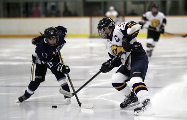 Olivia Henry and Riley Vanderydt - Hockey